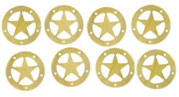 "8pc. 2.5"" Wooden Sound Hole Covers - Birch Lone Star"