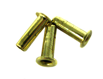 12pc. Long-shank Brass Eyelets/Economy String Ferrules