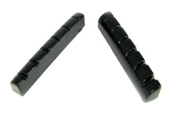 2pc. Black Plastic 6-String Guitar Nuts