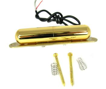 Vintage-style Gold Lipstick-Tube Single-Coil Pickup