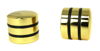2-pack Gold Dome Knobs with Speed Rings