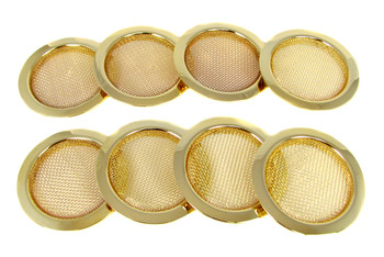 8pc. Gold Screened Sound Hole Inserts