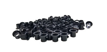 100-pack 1/4-inch Black Tuner Bushings/Ferrules