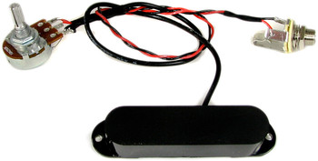 """Black Ice"" 6-Pole Single Coil Pre-Wired Pickup Harness with Volume Control"