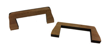 "2pc. Black Walnut ""Flying Bridge"" Bridges for Cigar Box Guitar"