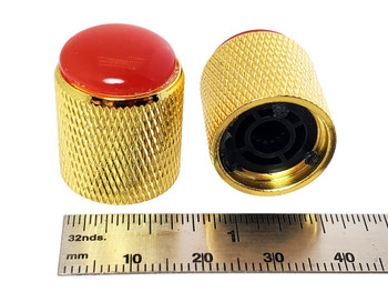2-pack Gold Dome Knobs with Agate Tops