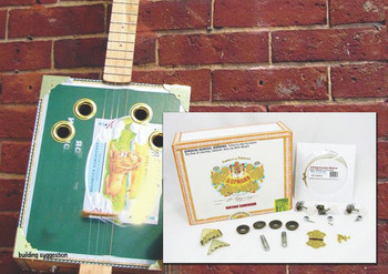 4-String Cigar Box Guitar Kit with How-To Guide