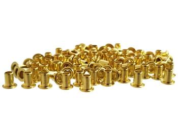 100pc. Short-shank Brass Eyelets/Economy String Ferrules