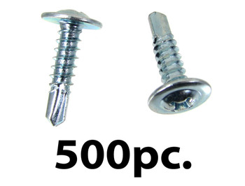 "500pc. #10 x 3/4"" Self-drilling Washer-head Screws"