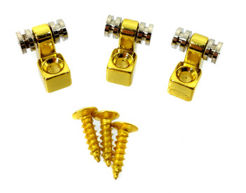 """3pc. Gold """"Roller-style"""" String Retainers"""