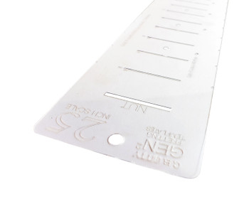 NEW GEN2 Laser-cut Fret Scale Marking Templates - provide both Chromatic & Diatonic Styles - Pick your Scale!