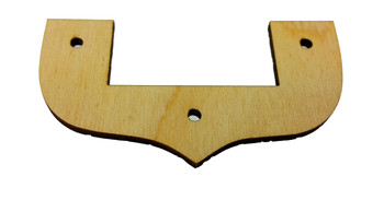 "2pc. Cigar Box Guitar Neck Collars - 1/8"" Arctic Birch Ply - Undecorated"