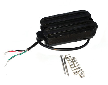 """Dual Rail"" Black Humbucker by Foundry-Tone - as featured on GuitarWorld.com!"