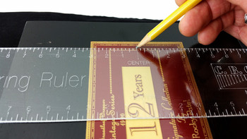14-inch Acrylic Centering Ruler - perfect for finding the center of cigar boxes!