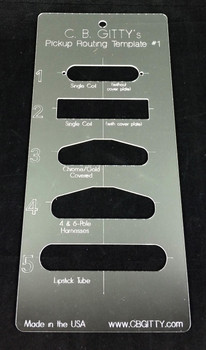 2pc. Electric Guitar Pickup Routing Template Set - includes 10 total templates for the most popular pickup styles!