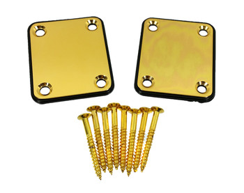 2pc. Gold Electric Guitar Neck Attachment Plates