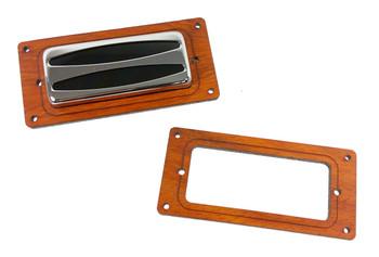 2pc. Mini Humbucker Pickup Cover Rings - Choose from 4 Wood Types!