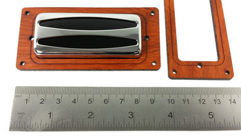 2pc. Mini Humbucker Pickup Cover Rings - Choose from 4 Wood Types!