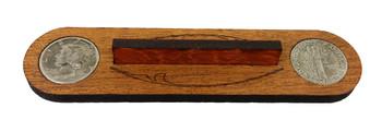 """The Panhandler"" Cigar Box Guitar Bridge with vintage U. S. Silver Dimes"