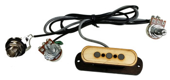 """Electric Delta"" 3-pole Cigar Box Guitar Pickup with Volume & Tone - No Soldering!"