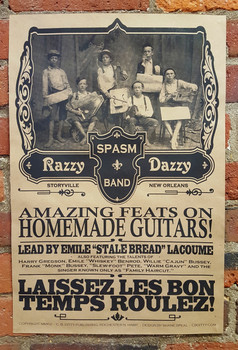 """Razzy Daddy Spasm Band"" Historic-themed Handmade Instrument Band 12x18 Poster"