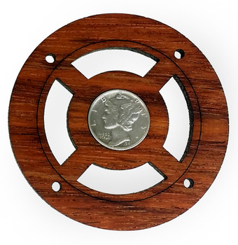 """Mercury Dime"" Vintage Coin Sound Hole Cover for Cigar Box Guitars"