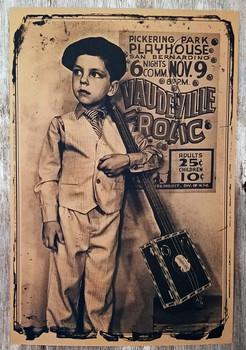 """Vaudeville Frolic "" Cigar Box Guitar Poster - 12 x 18-inch"