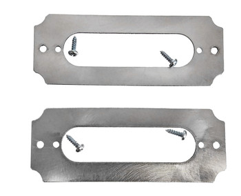 2pc. Stainless Steel Single Coil Pickup Cover Rings with Screws