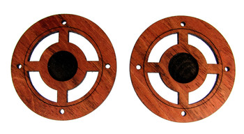 2pc. Dime (10-cent piece)-sized Coin Hardwood Sound Hole Cover Blanks