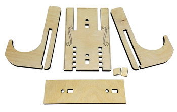 Adjustable Wall Hanger Mount Kit for Cigar Box Guitars - Handles most tuner alignments!