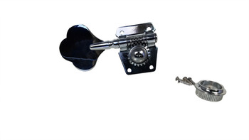 Single Chrome Bass Guitar/Diddley Bow Tuner - Left Aligned
