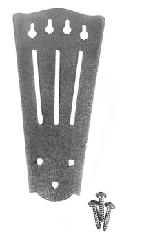 "Stainless Steel ""Slotted"" Tailpiece for 4-string Cigar Box Guitars"
