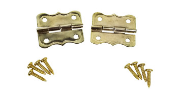2pc. Brass Butterfly Hinges with Screws