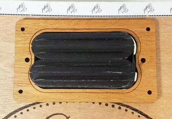 "2pc. ""Dual Rail"" Humbucker Pickup Cover Rings - Choose from 4 Wood Types!"