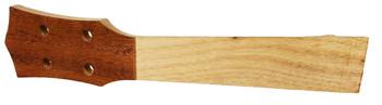 Mahogany Neck Blank for Soprano Ukulele with pre-drilled Tuner Holes