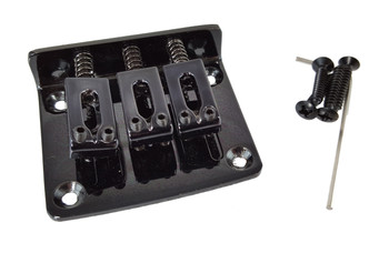 3-string BLACK Hard-tail Bridge for Cigar Box Guitars & More