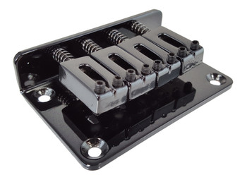 4-string BLACK Hard-tail Bridge for Cigar Box Guitars & More
