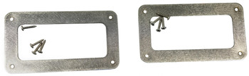 "2pc. Stainless Steel ""Soap Bar"" P-90 Pickup Cover Rings with Screws"