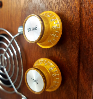 8pc. Gold Top-Hat Style Acrylic Tone Knobs