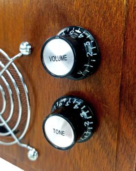 8pc. Black Top-Hat Style Acrylic Tone Knobs