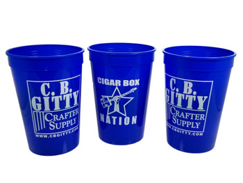 4pc. Blue 16oz. Gitty/Nation Plastic Stadium Cups