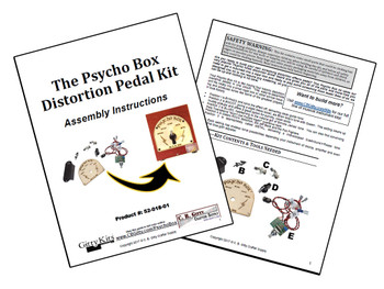 "The ""Psycho Box"" Standalone Distortion/Overdrive Pedal Parts Kit"