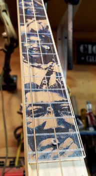 Clear Acrylic Cigar Box Guitar Fretboard - A new way to customize your CBG!