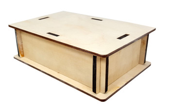 "Pedal-size DIY Wooden Box Enclosure Kit - 4"" x 6"" x 2"" - Easy to Assemble"