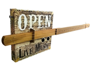 """Juke Joint"" 3-string Fretted Cigar Box Guitar - Watch the Demo Video"