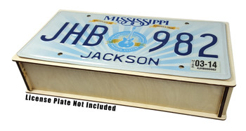 License Plate Resonator Wooden Box Kit - Easy to Assemble