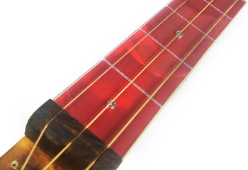 "Red Swirl Cigar Box Guitar (1.5"") Acrylic Fretboard Underlay"