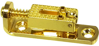 "3pc. Gold Roller-style ""Indie Bridges"" - 1-string Hard-tail Bridges for Cigar Box Guitars & More"