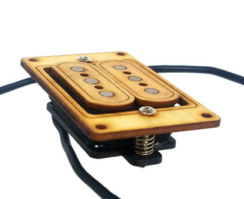 """DeltaBucker"" 3-string Maple Cigar Box Guitar Humbucker Pickup pre-wired with Jack  - No Soldering Required"
