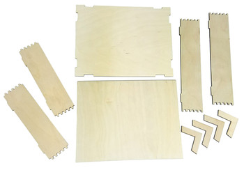 "8.5"" x 11"" Acoustic Wooden Box Kit with ""Box Jointed"" Side Panels"
